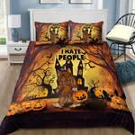 Bigfoot Halloween I Hate People  Bedding Set Bedroom Decor