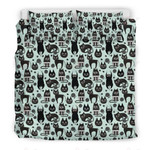 Black Kitten Cat Pattern 3D Bedding Set Bedroom Decor
