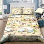 Camping Family Relaxing Time Printed Bedding Set Bedroom Decor