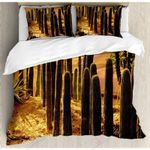 Cactus Thorny And Beautiful Printed Bedding Set Bedroom Decor