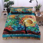 Colorful Tree Printed Bedding Set Bedroom Decor