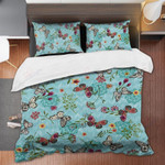 Butterfly Pattern Wild Flower Bedding Set Bedroom Decor