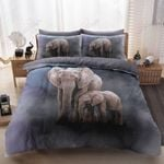 Elephants Mother And Baby Printed Bedding Set Bedroom Decor
