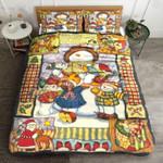 Cute Snowman Plaid And Pattern Bedding Set Bedroom Decor