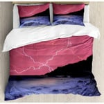 Thunderstorm Night Printed Bedding Set Bedroom Decor
