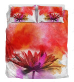 Awesome Red Flower Printed Bedding Set Bedroom Decor