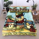 A Cup Of Tea  Printed Bedding Set Bedroom Decor