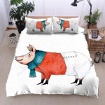 A Pig Very Cold White Backdrop Bedding Set Bedroom Decor