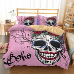 Boho Skull Smile Printed Bedding Set Bedroom Decor