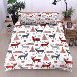 Deer Tree Christmas Bedding Set Bedroom Decor