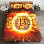Bitcoin Fire Printed Bedding Set Bedroom Decor
