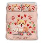 Corgi Love  Printed Bedding Set Bedroom Decor
