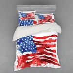 Usa Flag  Printed Bedding Set Bedroom Decor