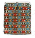African Kente Triangle Pattern Bedding Set Bedroom Decor