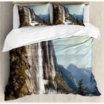 Awesome Falls Mountain Printed Bedding Set Bedroom Decor