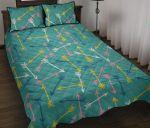 Colorful Arrow Pattern Green Printed Bedding Set Bedroom Decor