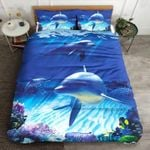 Dolphin Intelligent And Cute Printed Bedding Set Bedroom Decor
