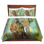 A Elephant Watercolor Printed Bedding Set Bedroom Decor