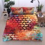Elephant Color Printed Bedding Set Bedroom Decor