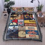 Bicycle Live Life Printed Bedding Set Bedroom Decor