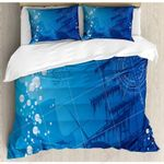 Blue Nautical Printed Bedding Set Bedroom Decor