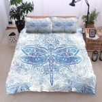 Blue Mandala Dragonfly Printed Bedding Set Bedroom Decor