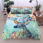 Blue Beautiful Deer Colorful Bedding Set Bedroom Decor