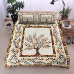 Colorful Tree  Printed Bedding Set Bedroom Decor