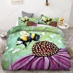 Bee With Blossom Flower Bedding Set Bedroom Decor