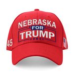 Nebraska For Trump Red Election 2020 Hat Baseball Cap