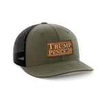 Trump Pence 2020 Leather Patch Election 2020 Hat Baseball Cap