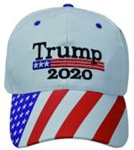 Trump 2020 American Flag White Election 2020 Hat Baseball Cap