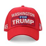 Washington For Trump Red Election 2020 Hat Baseball Cap