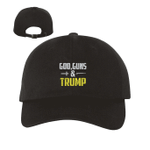 God Guns And Trump Dad Black Election 2020 Hat Baseball Cap