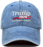 Trump Keep America Great Light Denim Election 2020 Hat Baseball Cap