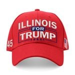 Illinois For Trump Red Election 2020 Hat Baseball Cap