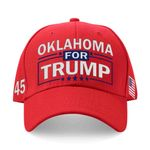 Oklahoma For Trump Red Election 2020 Hat Baseball Cap