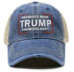Promises Made Promises Kept Trump Denim Election 2020 Hat Baseball Cap