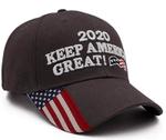 2020 Keep America Great American Flag Gray Election 2020 Hat Baseball Cap
