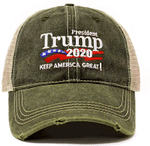 Trump 2020 Keep America Great Army Green Election 2020 Hat Baseball Cap
