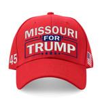 Missouri For Trump Red Election 2020 Hat Baseball Cap