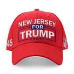 New Jersey For Trump Red Election 2020 Hat Baseball Cap