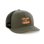 God Guns And Trump Leather Patch Ice Cream Election 2020 Hat Baseball Cap