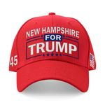 New Hampshire For Trump Red Election 2020 Hat Baseball Cap
