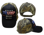 Trump 2020 MAGA Velcro Woodland Camo Election 2020 Hat Baseball Cap