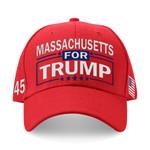Massachusetts For Trump Red Election 2020 Hat Baseball Cap