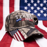 Trump 2020 USA Flag Mossy Oak  Election 2020 Hat Baseball Cap