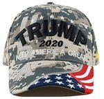 The Camo Trump Wore   Election 2020 Hat Baseball Cap
