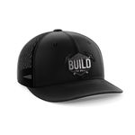 Build The Wall Black Leather Patch Election 2020 Hat Baseball Cap Net Cap