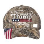 Wyoming For Trump Camo Election 2020 Hat Baseball Cap